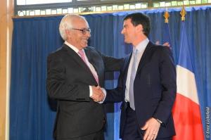 PM VALLS avec l'Ambassadeur GAL